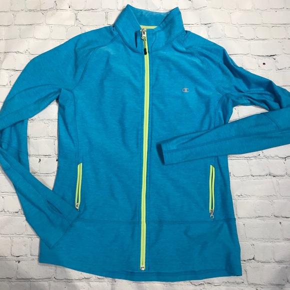 Champion Turquoise Front Zip Athletic Jacket